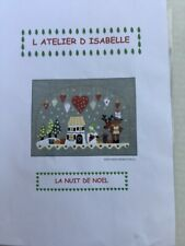 Christmas embroidery kit with wool felt and linen. Includes everything to make