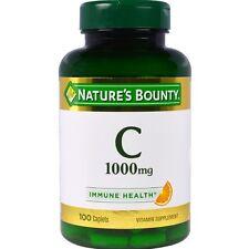 Nature's Bounty Vitamin C 1000 mg Immune Health Caplets 100 ea (Pack of 2)