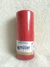25 Stumpenkerzen Kerzen Stumpe Müller Durchbrandsperre Wachs 130 x 55cm weinrot