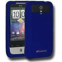AMZER premium Silicone Skin Soft Jelly Case Cover For HTC Legend - Blue