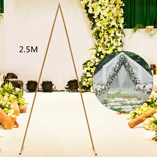 New listing 2.5m Gold Metal Arch for Wedding Party Decoration - Triangle Wedding Arch New