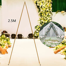 2.5m Gold Metal Arch for Wedding Party Decoration - Triangle Wedding Arch New