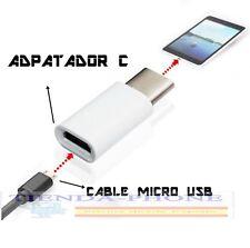 Adaptador conversor de USB 3.1 Tipo C Macho a Micro usb Hembra PARA Xiaomi MI 5