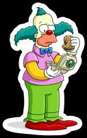 The Simpsons MAGNET - Krusty The Clown of the Krusty Burger on Premium Vinyl