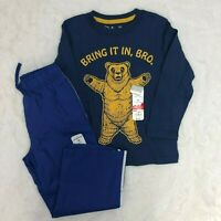 Jumping Beam Bear Bro long Sleeve Shirt Blue Joggers Sweats Outfit Boys  4T