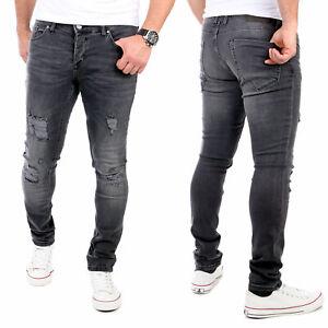 Reslad Jeans Hosen Herren Slim Fit Jeanshose Männer Hose Stretch Basic Denim
