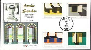 Emilio Sanchez FDC - All 4 stamps on 1 cover - McIntosh Cachets