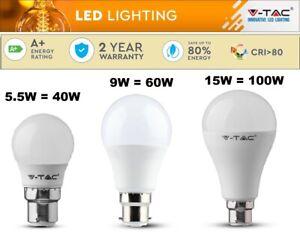 9W = 60W LED Round Light Bulbs Bayonet BC B22 Energy Saver LED Bulb