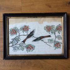 Ancienne Peinture sur Soie Chinoise - Oiseaux XIXè - Chinese Painting 19thC