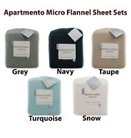 Apartmento Micro Flannel Sheet Set King|Queen|Double|King Single|Single