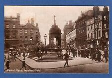 Market Place Huddersfield pc used 1913 Ref V929