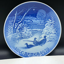 Royal Copenhagen Porcelain Denmark Collectors Plate Christmas 1970 snow pheasant