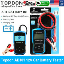 12V Automotive Car Battery Tester Charging Cranking Test Analyzer 100-2000CCA