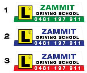 Magnetic Roof Sign - Driving School/Instructor-Roofsign1 *** AUSSIE SUPPLIER ***