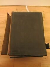 VINTAGE LARGE NATIONAL ILLUSTRATED FAMILY THE HOLY BIBLE & CLASP LEATHER BOUND