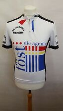 BIO RACER CYCLING JERSEY TOP SIZE 3 SHORT SLEEVE - WHITE BLACK