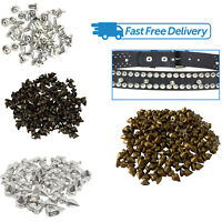 100pcs Rivets Punk Stud Cone Spike Spots for DIY Leathercraft jackets Bracelets
