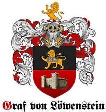 Freiherr von LÖWENSTEIN Neu ADELSTITEL Wappen Diplom Urkunde Schlossanteil ✵