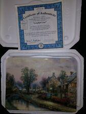 Thomas Kinkade: Lamplight Village 3 Plate