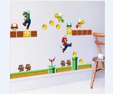 Super Mario Game Wall Stickers Kids Room Decor Cute Vinyl Decals Material PVC