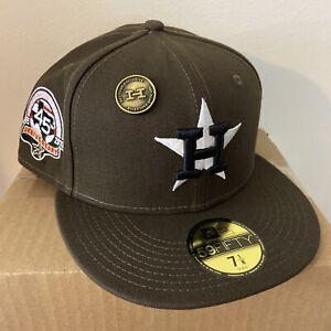 Hat Club Exclusive Houston Astros 45th Mocha Brown Pink Travis Scott Size 7 1/8