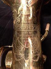 King Zephyr Tenor Saxophone (1955) Vintage original lacquer-Excellent condition!