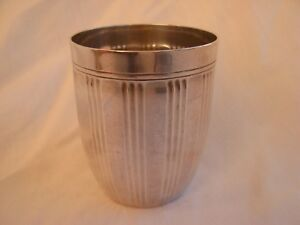 FRENCH ART DECO STERLING SILVER GOBLET.
