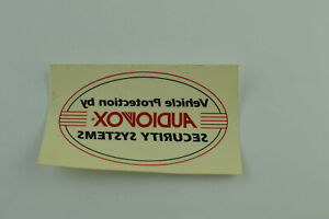 Audiovox Car Sticker Decal Vehicle Protection Buy Security System Vintage Auto