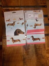 Dachshund Sausage Dog 3 Tea Kitchen Towels 3 designs - Brand New Milly Green