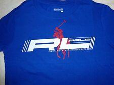 NWT Boy Ralph Lauren T-shirt RL POLO Big Pony Short Sleeve Sz 6 Blue 100% Cotton