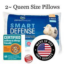 """2 Serta Perfect Sleeper Standard / Queen Size Bed Pillows Soft Cotton 20"""" x 28"""""""
