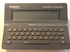 Franklin Computer Language Master Lm-2000 Dictionary/Thesaurus Language Master