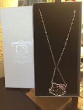 NEW Sanrio Hello Kitty Jewelry Necklace Rhinestones Pink Hearts Bow Romantic