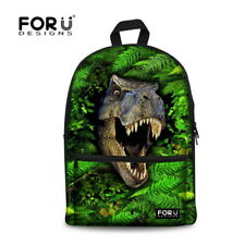 Dinosaur Backpack Woman Mens Canvas Bag Fashion Schoolbag Girls Bookbag Mochilas