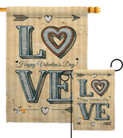 Classic Love Valentines Happy Day Heart Sweet Darling Garden House Yard Flag