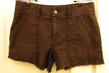 Free People Shorts Brown 4 Fringe Bottoms Cotton Urban Outfitters Anthropologie