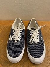 VANS Authentic Slim (Jersey) Navy White Casual Shoes Women's 7.5