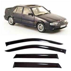 For Saab 9000 Sd 1984-1998 Side Window Visors Sun Rain Guard Vent Deflectors
