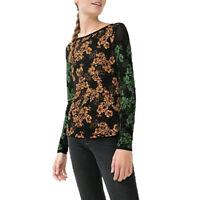 Desigual TS BELLA REP Orange Black T Shirt Top Blouse Jumper Size S M L