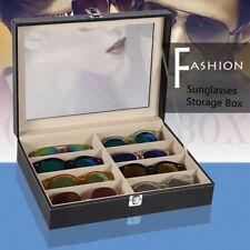 SODIAL 127684 Slim Matte Hard Metal Case Glasses Protection - Black