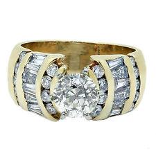 2.03 Quilate Antigua, De Mina H Vs1 Anillo De Compromiso Diamante Corte Princesa
