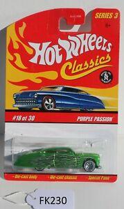 Hot wheels Classics Series 3 Purple Passion Green #18 FNQHotwheels FK230