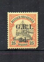 Australia - New Guinea 1914-15 3d on 25pf GRI surcharge MH