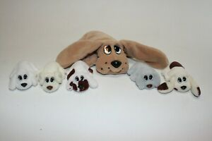 Lot of 6 Vintage Pound Puppies Dogs Mother and 5 Puppies Galoob NO TAGS