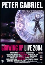 PETER GABRIEL -  STILL GROWING UP TOUR 2004 - TOUR FLYER - pop music
