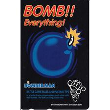 "SEGA SATURN BOMBERMAN ""BOMB!! Everything!""  JAPAN TELEFONKARTE / PHONE CARD RARE"