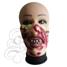 Half Face Comedy Funny People Burn Face Freddie Stag Hen Fancy Props Latex Masks