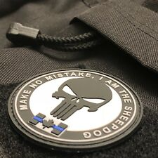 Sheepdog Thin Blue Line Morale PVC Patch FREE SHIPPING Canada TACTICAL EDC TBL