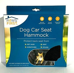Paws First Dog Car Seat Cover 55x49 Puppy Water Stain Resistant Travel Hammock