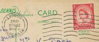 "GB POSTMARK-ERROR ""WEYMOUTH / DORSET"" machine postmark w INVERTED DATE-PART 1962"